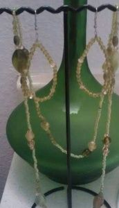 Long beaded necklace set